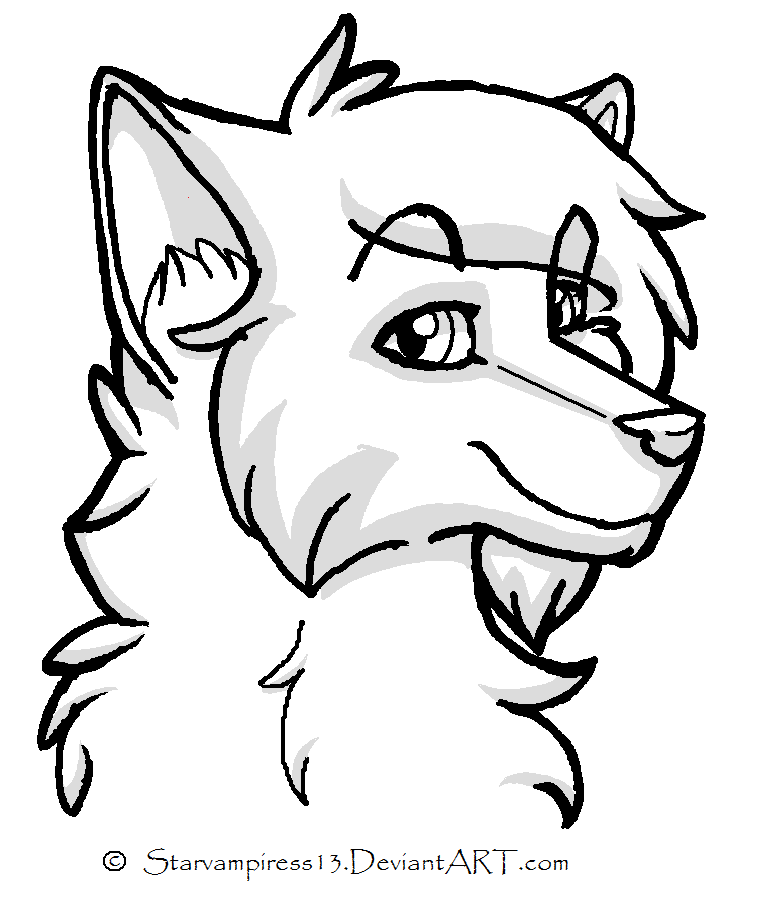 Cartoon Wolf Lineart By Ms Paint Friendly On Deviantart Cartoon Wolf Cartoon Girl Drawing Cartoon Coloring Pages