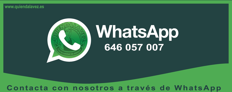Resolvemos cualquier duda o pregunta desde nuestro WhatsApp