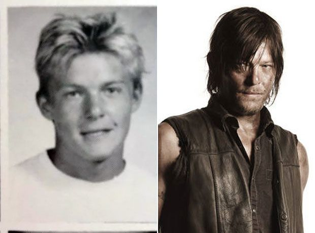 Norman Reedus in the 80s and today