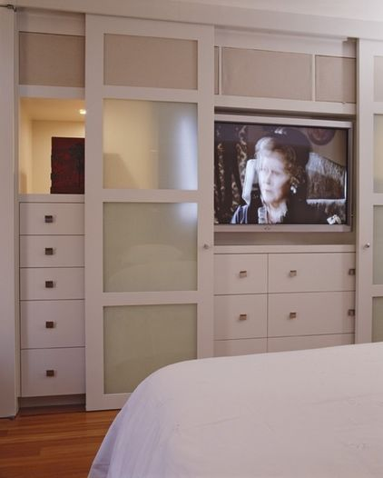 Built-in Closet with TV - could replace tv with mirror for ...