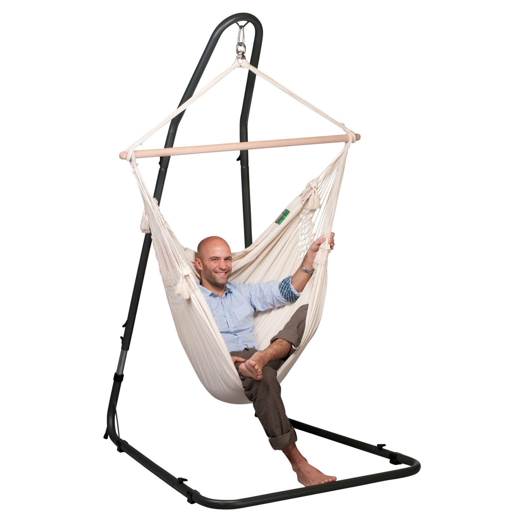 hammock chair stand adjustable lawn chairs on sale la siesta mediterraneo anthracite mea12 9