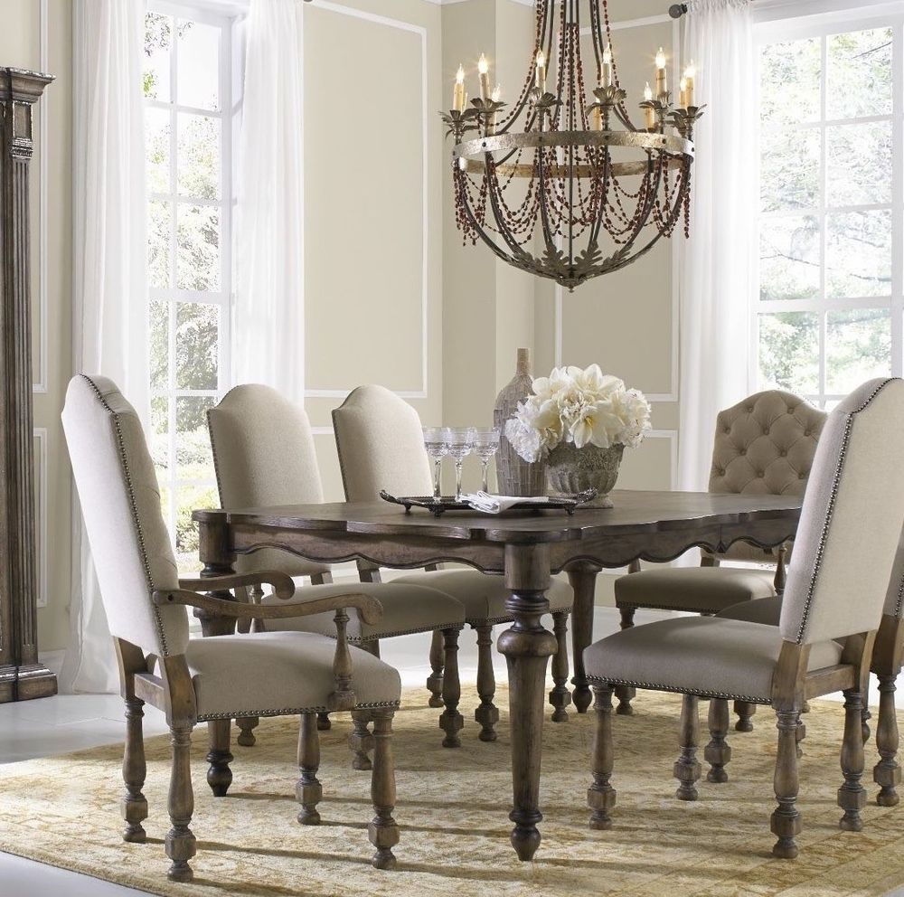 Rustic French Rectangular Wood Extendable Dining Room Table 76