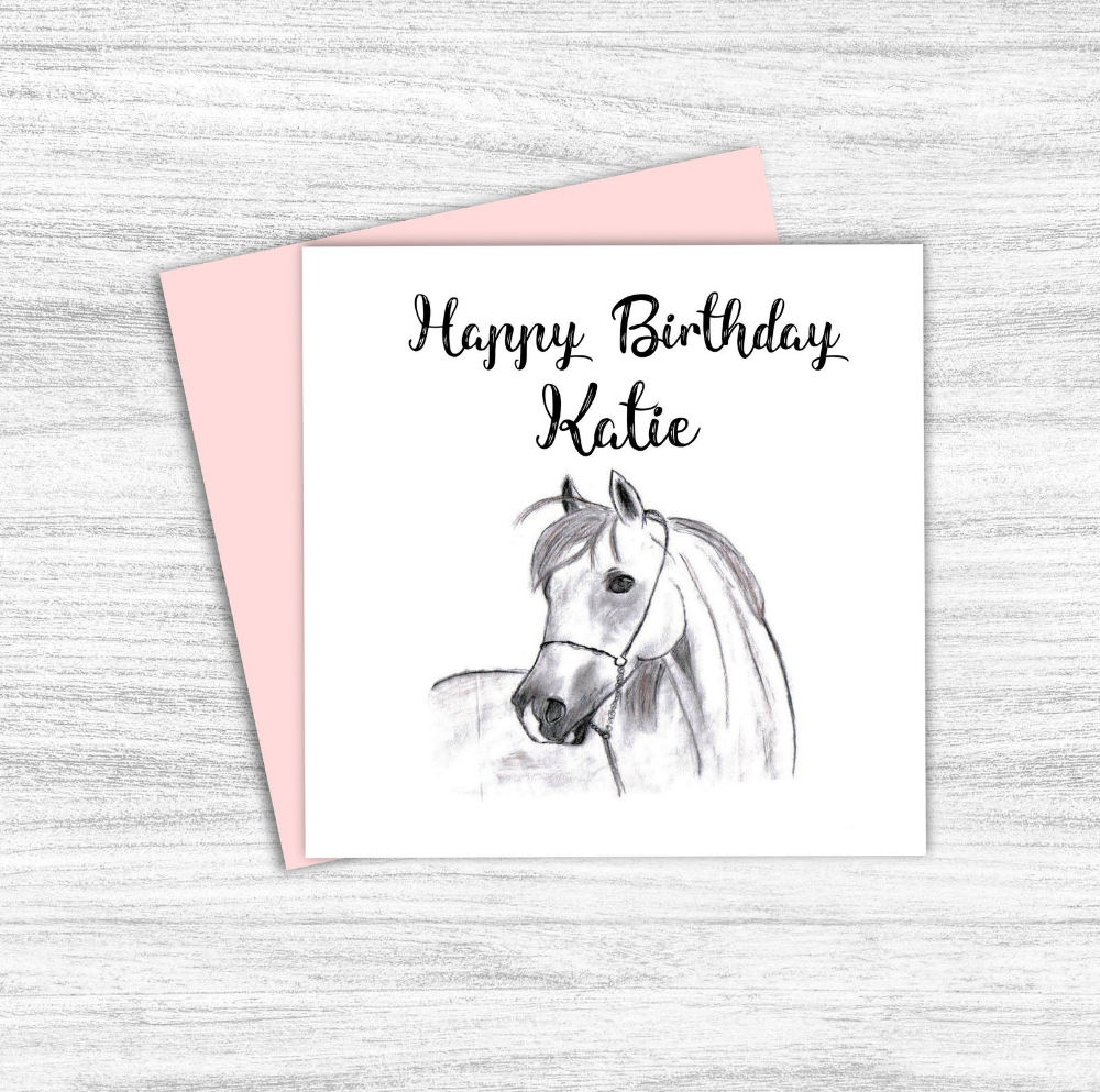 Personalised Horse Birthday Card Pony Card Horse Lover Etsy Horse Birthday Horse Lover Birthday Cards