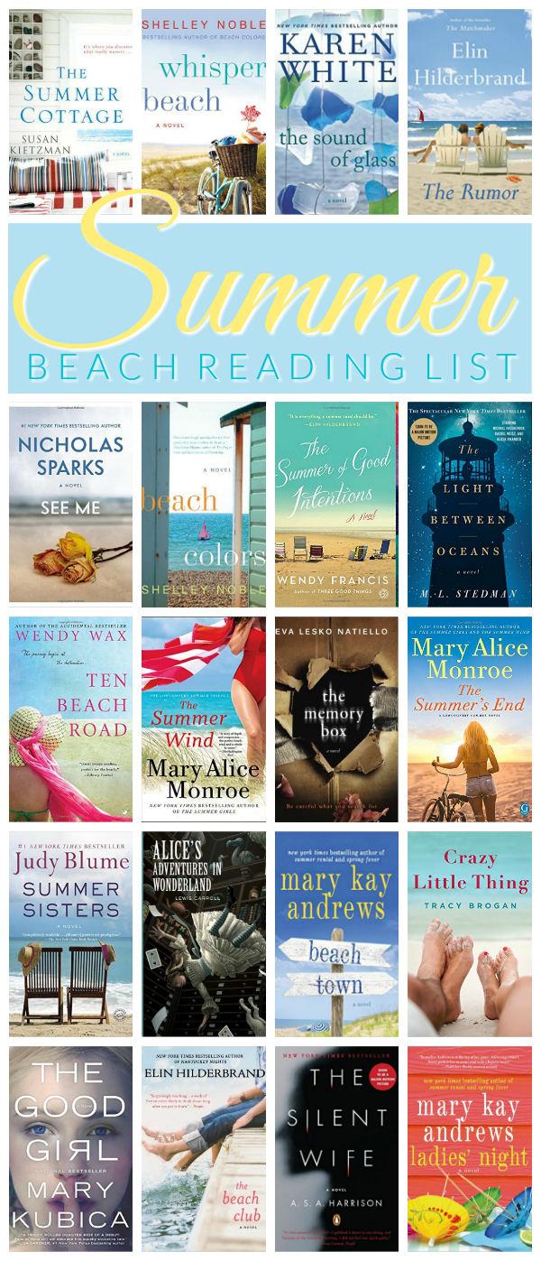 Summer Beach Read List - the best books to read this summer. Summer book list - perfect for a beach vacation! #bookstoread