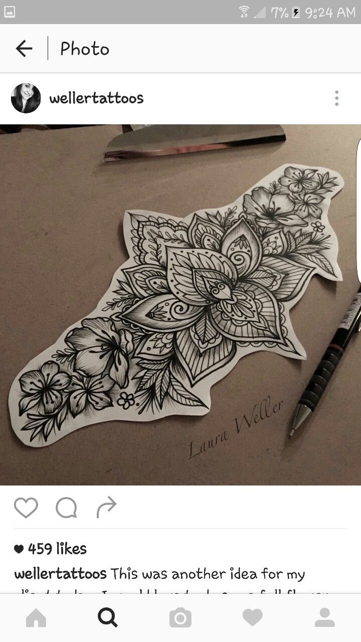 0dee0c9e314f6 Lower back tattoo design! | Cute things | Tattoos, Lower back ...