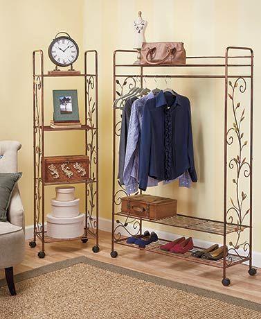 Bronze Leaf Design Storage Racks