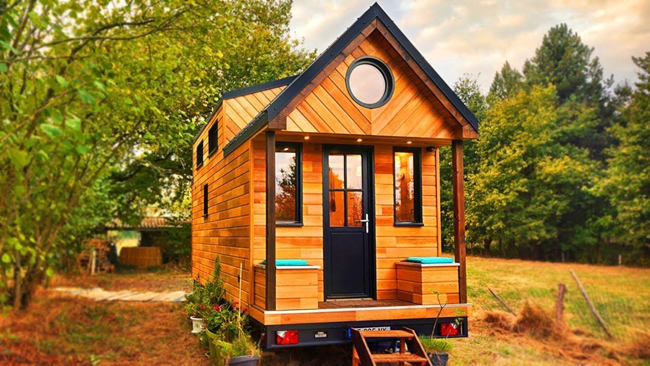 most cutest tiny house avonlea with large sheltered porch on beautiful tiny home ever id=33747