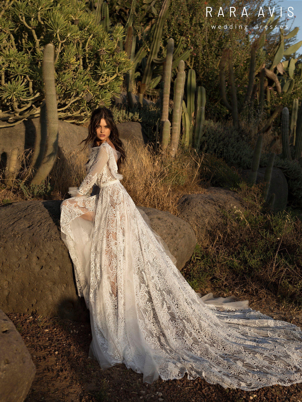 Boho Wedding Dress Ujan With Long Train By Wedding Dress With Long Train Etsy Wedding Dress Boho Wedding Dress Online Wedding Dress