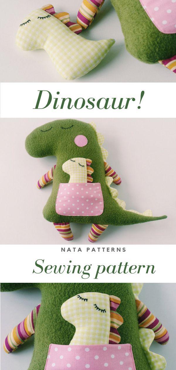Dinosaur sewing pattern PDF Animal Doll Stuffed Dinosaur tutorial Plush Dinosaur birthday party Stuffed animal sewing pattern Dinosaur toy |выкройка динозавра, динозавр своими руками мастер класс #sewingpattern #DIY #instructionstodollpatterns