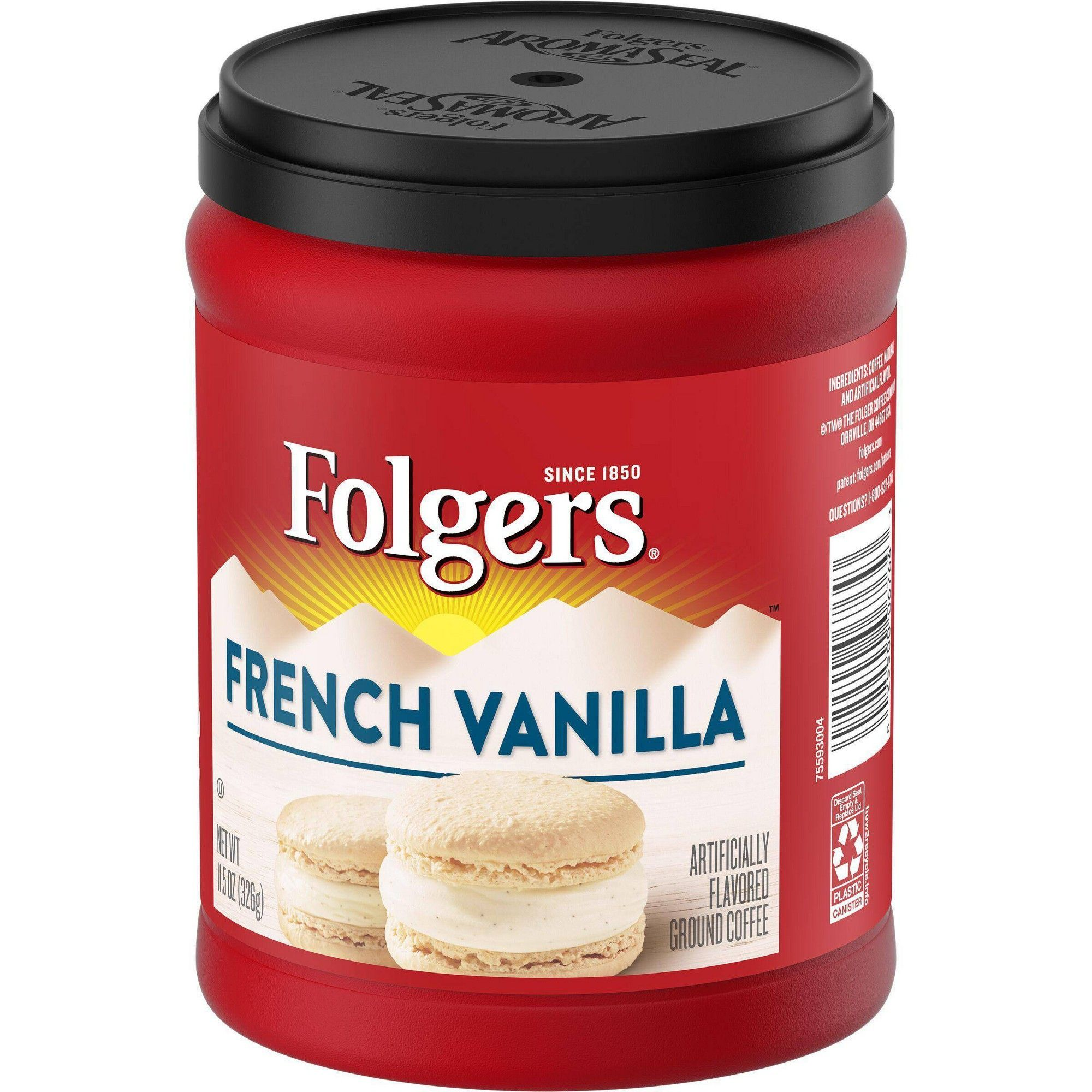 Folgers flavors french vanilla mountain grown medium roast