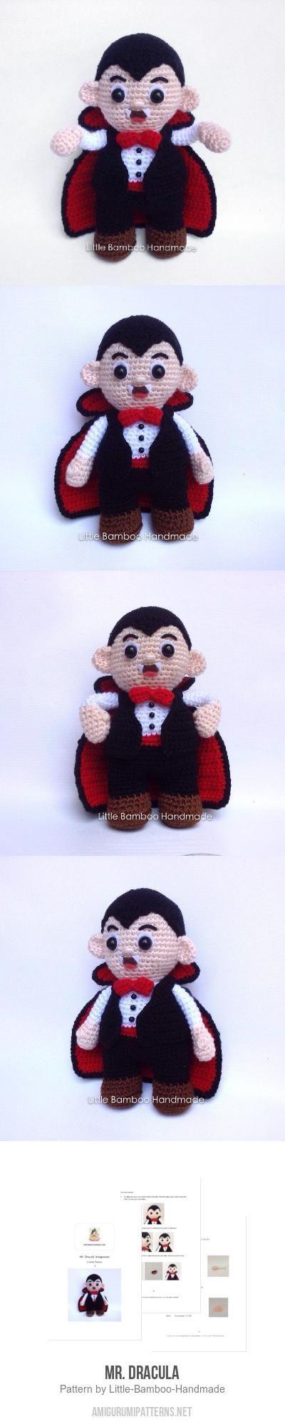 Mr. Dracula amigurumi pattern by Little Bamboo Handmade | Märchen ...
