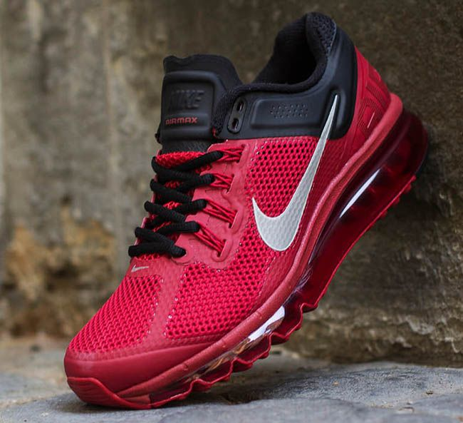 85b0a19b477 The latest colorway of the Nike Air Max+ 2013 has just hit Titolo. The  Hyperfuse built runner comes fitted in gym red and black with a stroke of  reflective