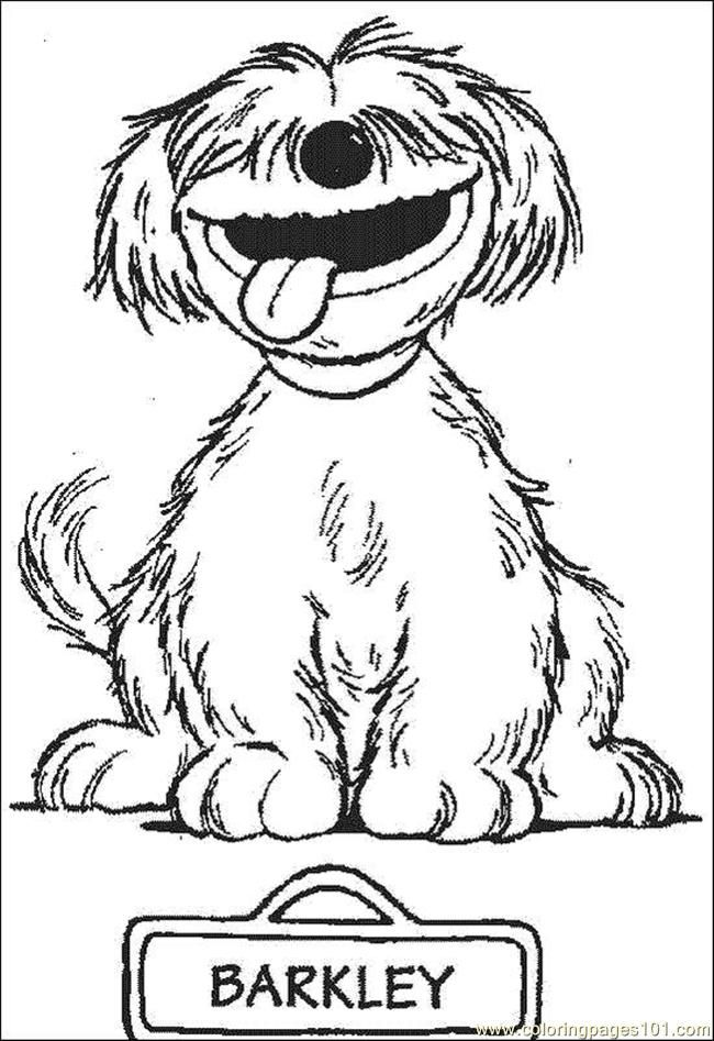 Coloring Pages Barkley Cartoons Sesame Street Free Printable
