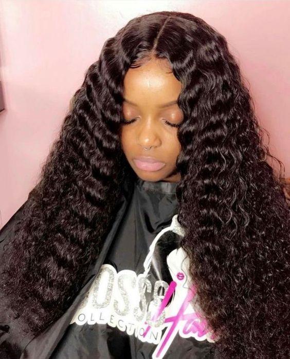 classic lace wigs Brazilian Deep Wave Curly Virgin Hair | deep wave ...