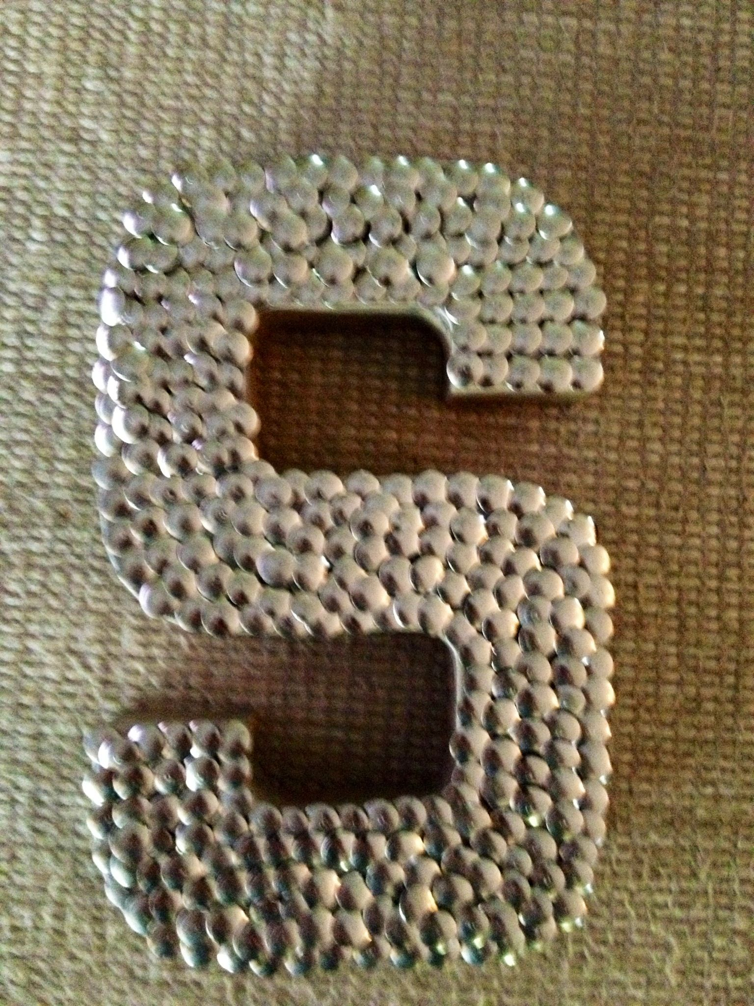 Cardboard Letter From Hobby Lobby Covered In Thumbtacks So Simple Yet Super Stunning Letter A Crafts Cardboard Letters Lettering