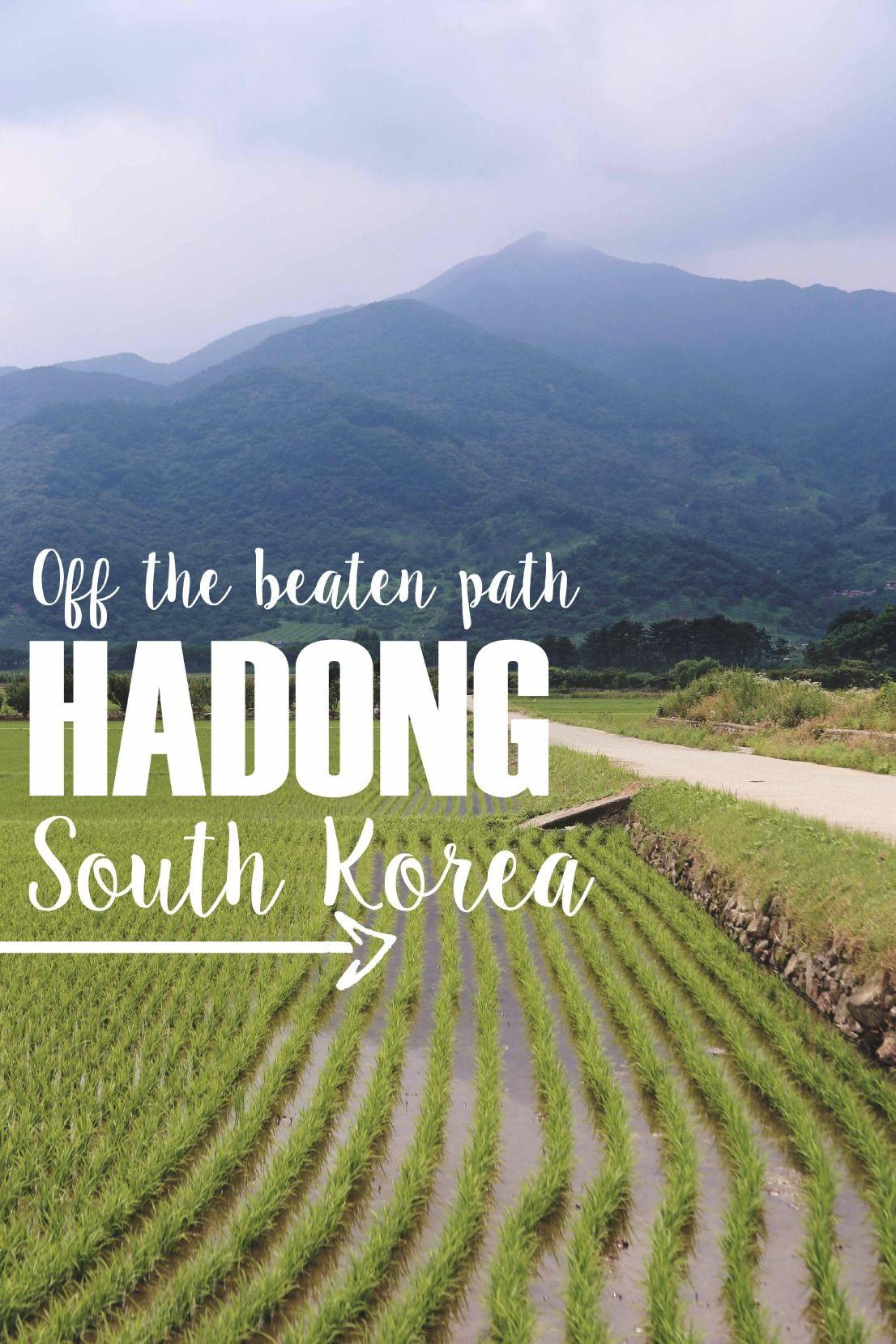 Handong, South Korea at the foot of Jirisan National Park!