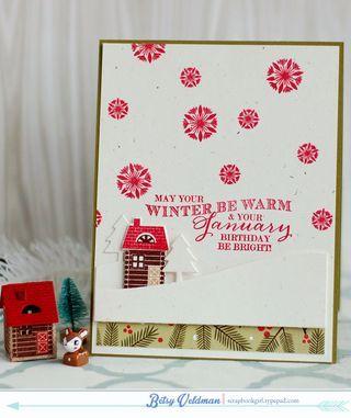 January Birthday Card By Betsy Veldman For Papertrey Ink December