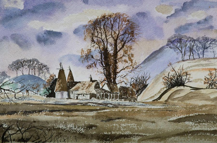 The Olde Oast House By Rob Hemphill Painting Art Countryside Landscape