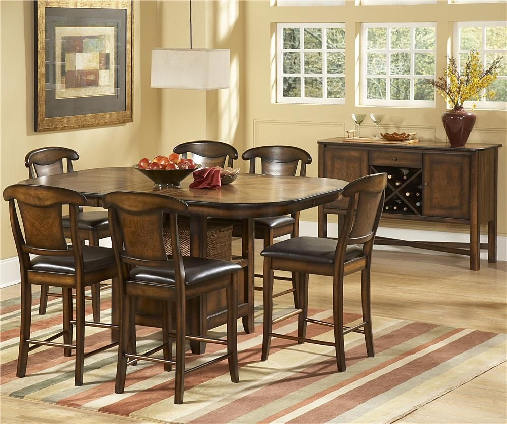 626 7 Piece Counter Height Set By Homelegance Counter