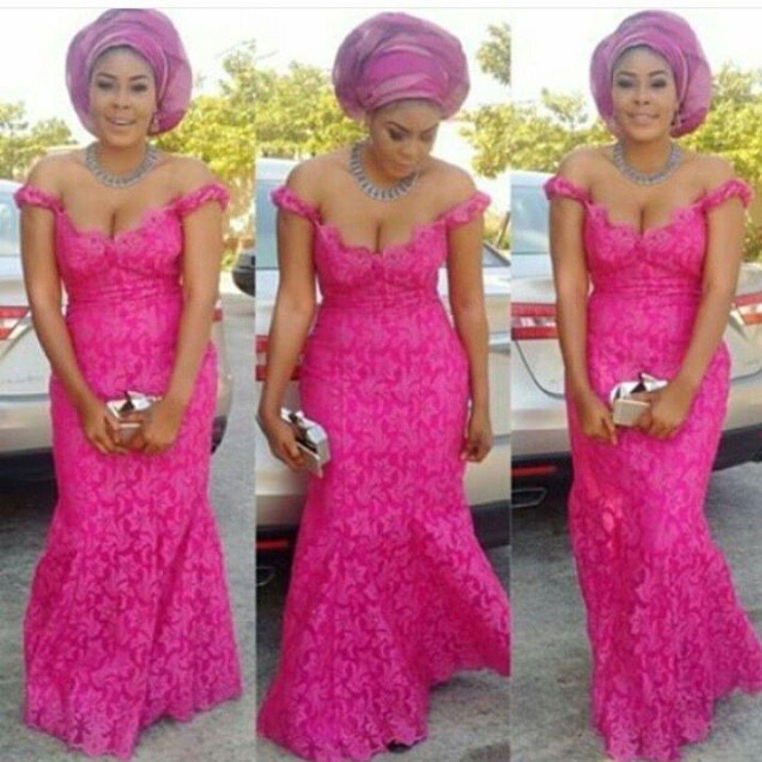 Pin de Alysha Reed en Nigerian Aso ebi/ Bridesmaid Dress | Pinterest