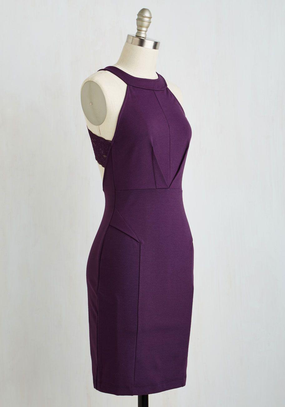 f046f284fb Anniversary Allure Dress in Plum. On a treasured evening