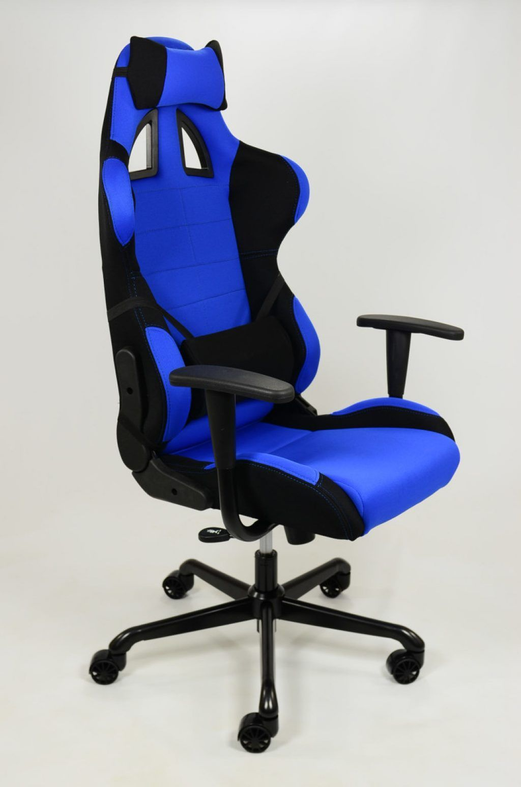 awesome height back blue computer gaming chair with black iron