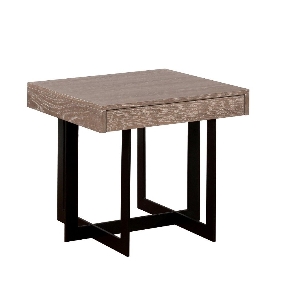 Accent Tables Casual Gray Mibasics End Tables Wood End Tables