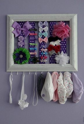 This would be so cute. Could even be a way to hang little baby bow ties and ties, too. :)