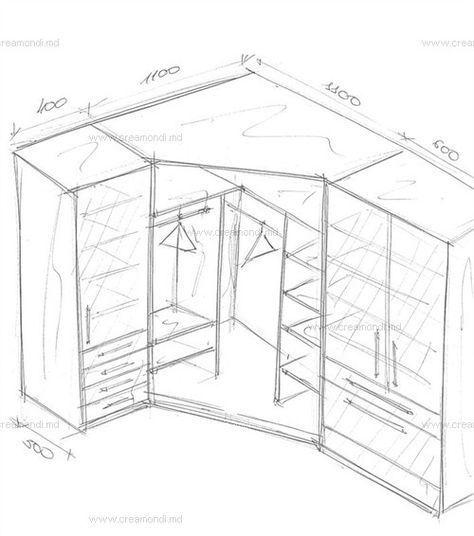 Угловой шкаф с пеналами в спальню | Угловой шкаф, Шкаф ...  Дизайн Спальни С Угловой Гардеробной