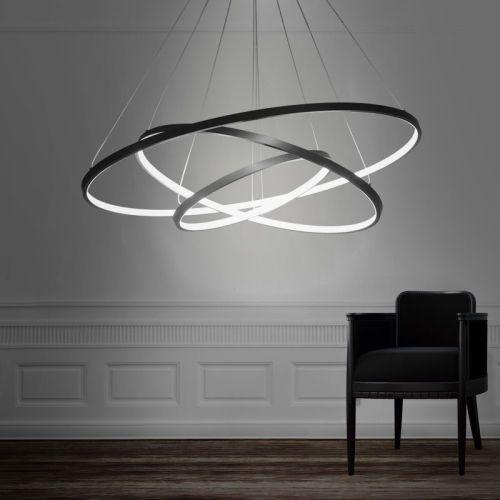 Modern Design LED 3Rings Chandelier Lighting Lights ...