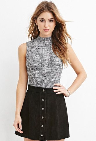 Mock Neck Ribbed Sweater | Forever 21 - 2000165232
