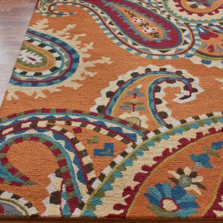 Larache Rug In Orange Joss And Main Wool Area Rugs Vibrant Rugs Paisley Rug