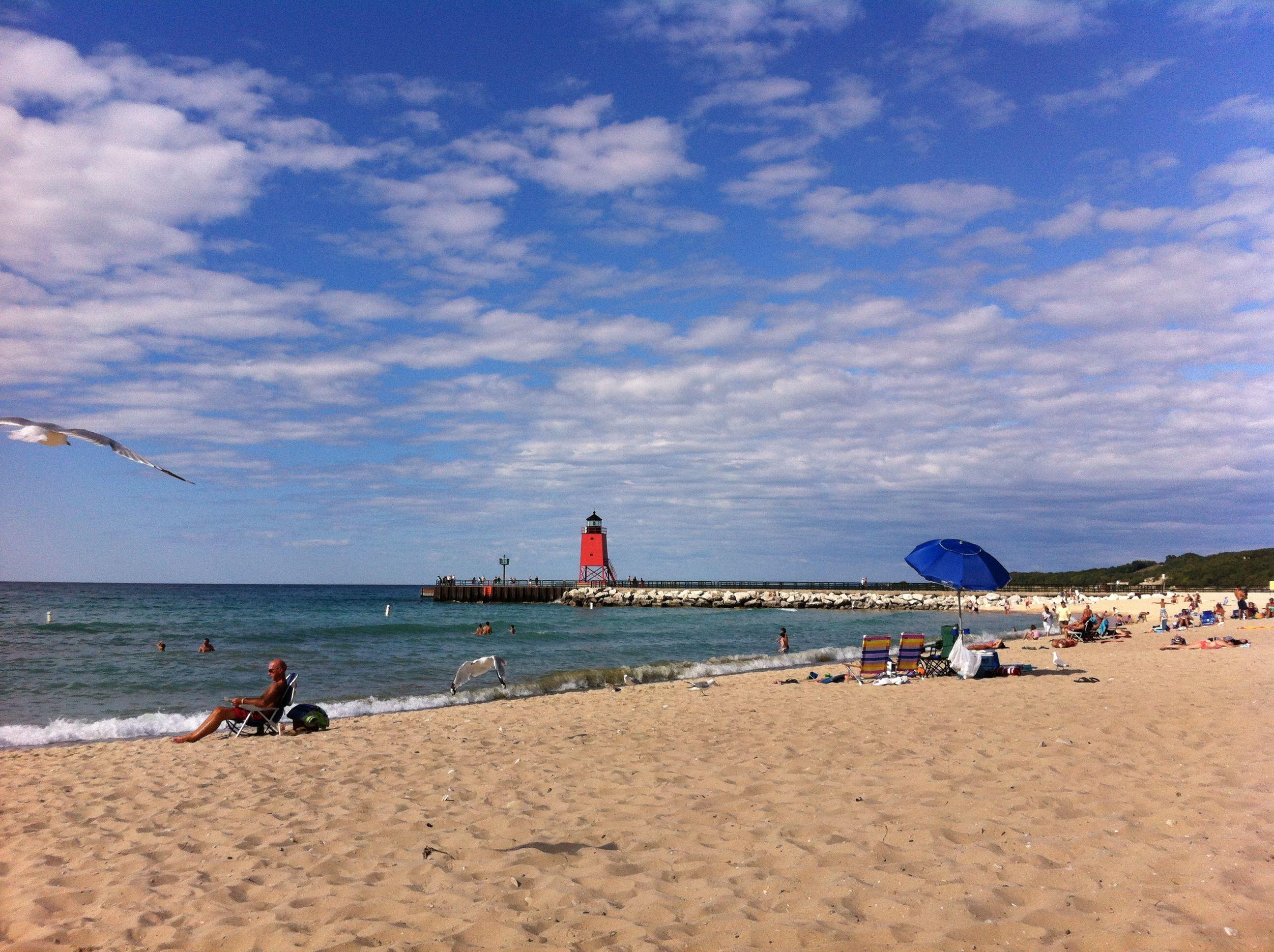 Lake Michigan Beach Charlevoix Mi Petoskey Mackinac Up