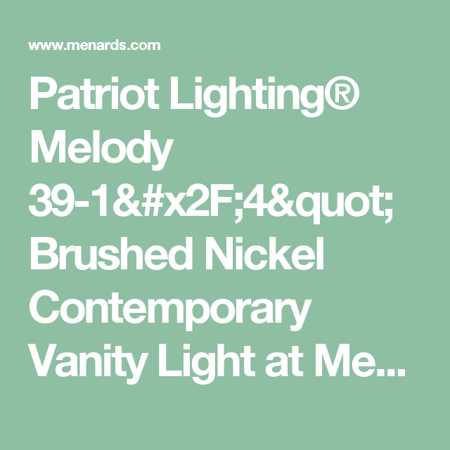 Patriot Lighting® Melody 39-1/4\