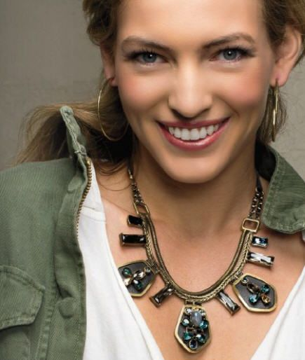 Limted edition Blue Streak Necklace...dress it up, wear it casual.  One perfect statement piece for fall!