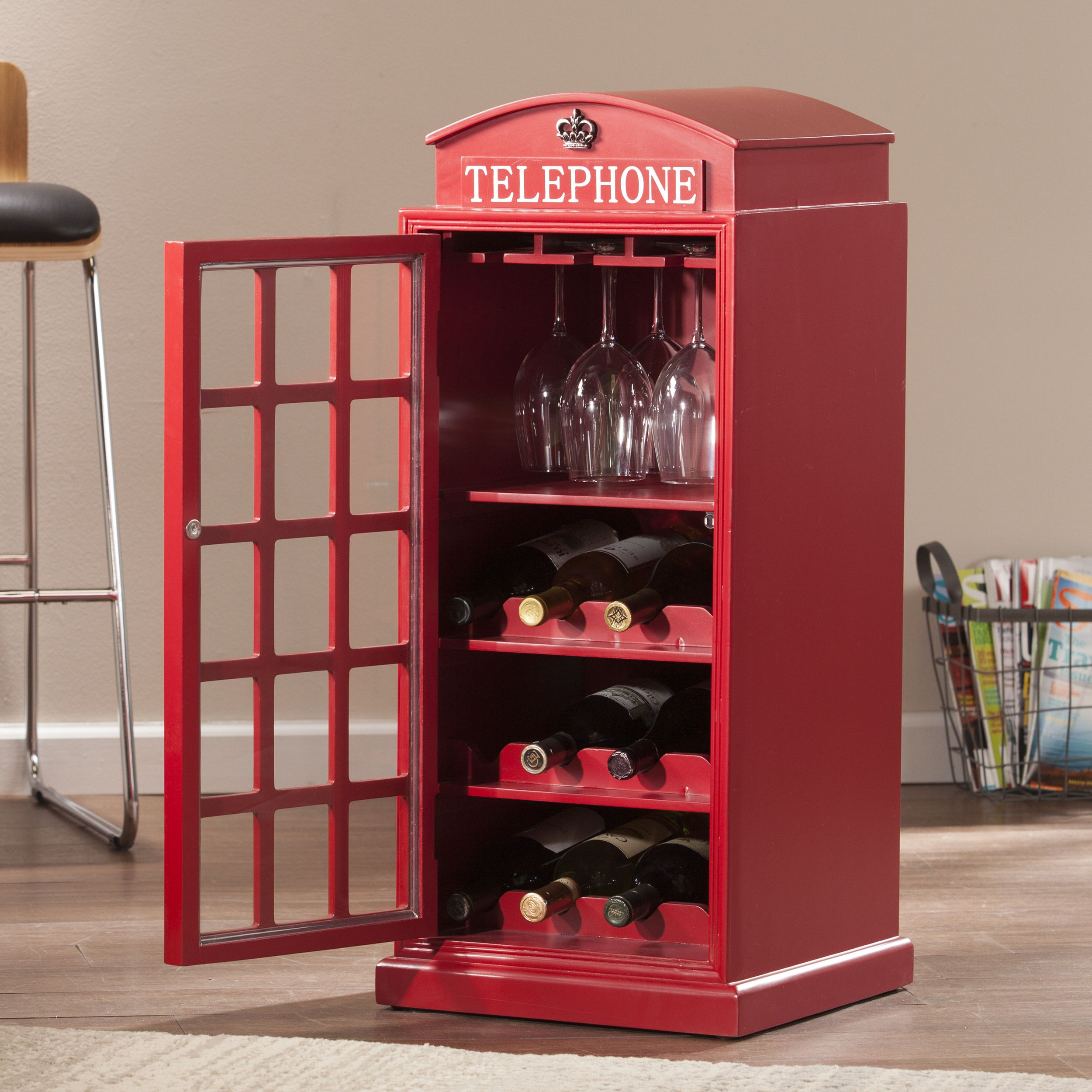 Take Your Wine Collection To The Next Level With The Best Selling Franklin Phone Booth Wine Cabinet N London Phone Booth Wine Cabinets Media Storage Cabinet