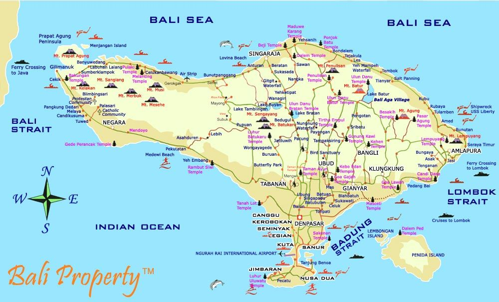Tips On Traveling In Bali Bali Map