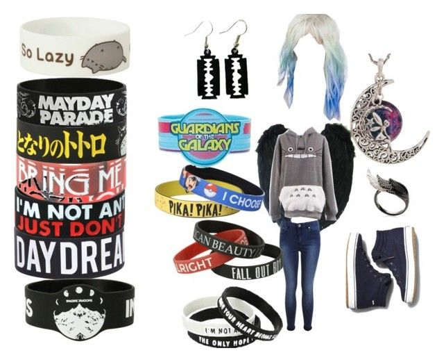 """I like rubber bracelets"" by sachismith ❤ liked on Polyvore"