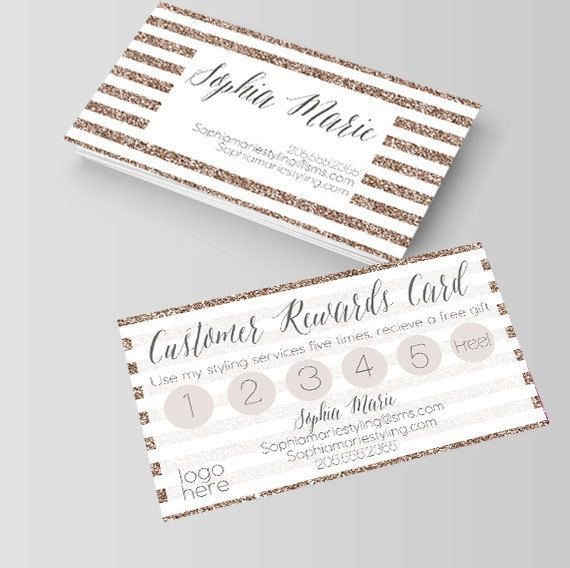 White and gold business cardsrewards cardsloyalty cards beauty business cards reheart Images