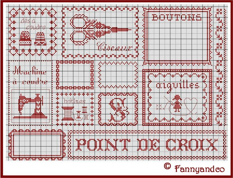 Cross-stitch chart
