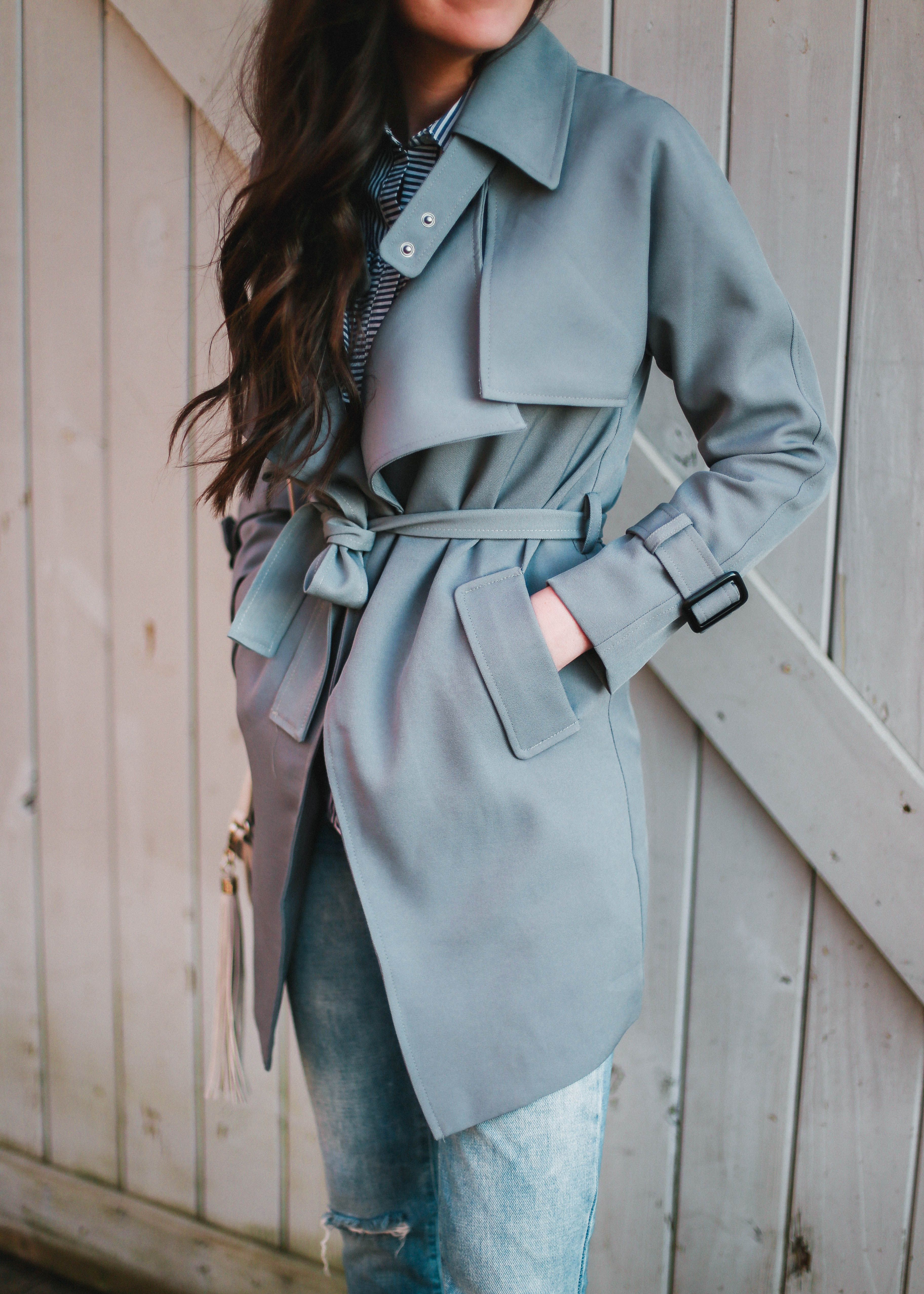 Spring Outerwear Ideas Pretty In The Pines New York City Lifestyle Blog Spring Outerwear Trench Coats Women Spring Outerwear Women [ 5107 x 3648 Pixel ]