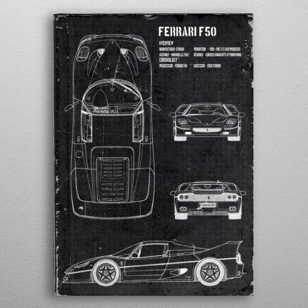 Ferrari F50 by FARKI15 DESIGN | metal posters - Displate | Displate thumbnail
