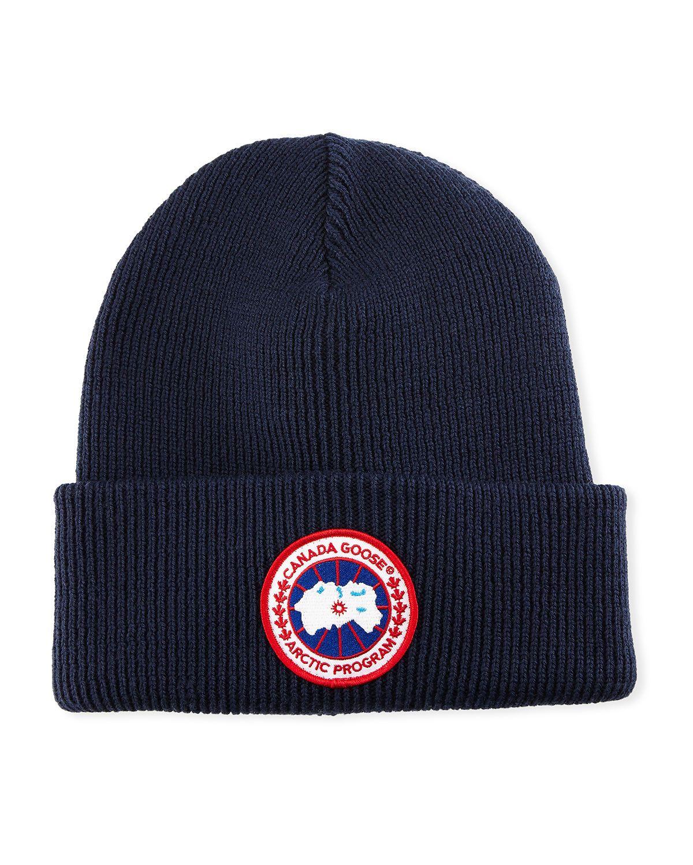 CANADA GOOSE ARCTIC DISC TOQUE KNIT BEANIE HAT.  canadagoose ... 796a1aff7d80