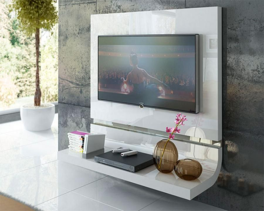 Modern Furniture Wall Units fenicia contemporary curved tv unit in various colours with