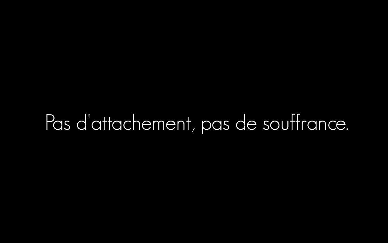 Pas Dattachement Pas De Souffrance Amour Citations