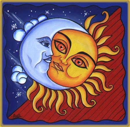 Sol Luna Moon Art Sun Art Stars And Moon