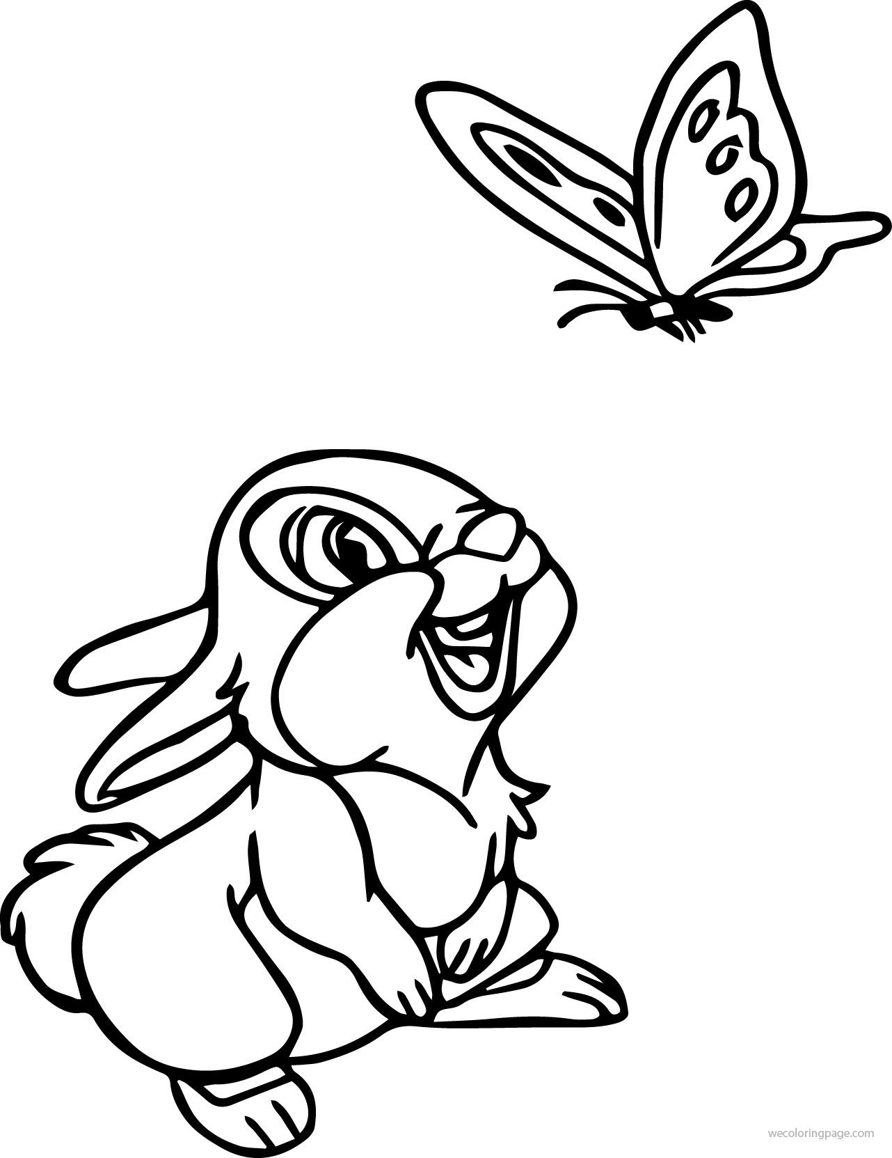 Bambi Thumber Bunny Coloring Pages