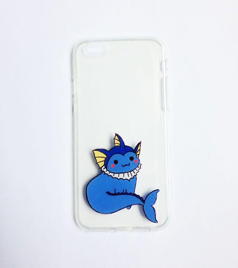 Pokemon Vaporeon Minimalist iphone case
