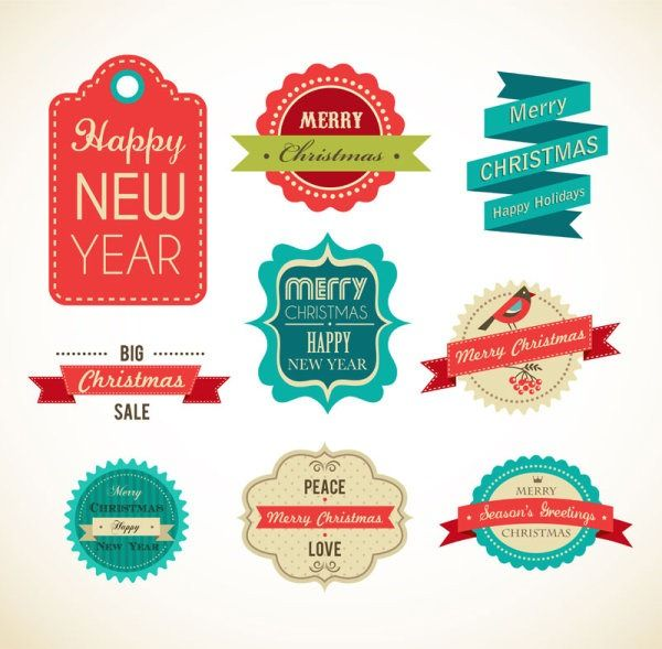 Exquisite festive label vector material PSD Free Resource Websites