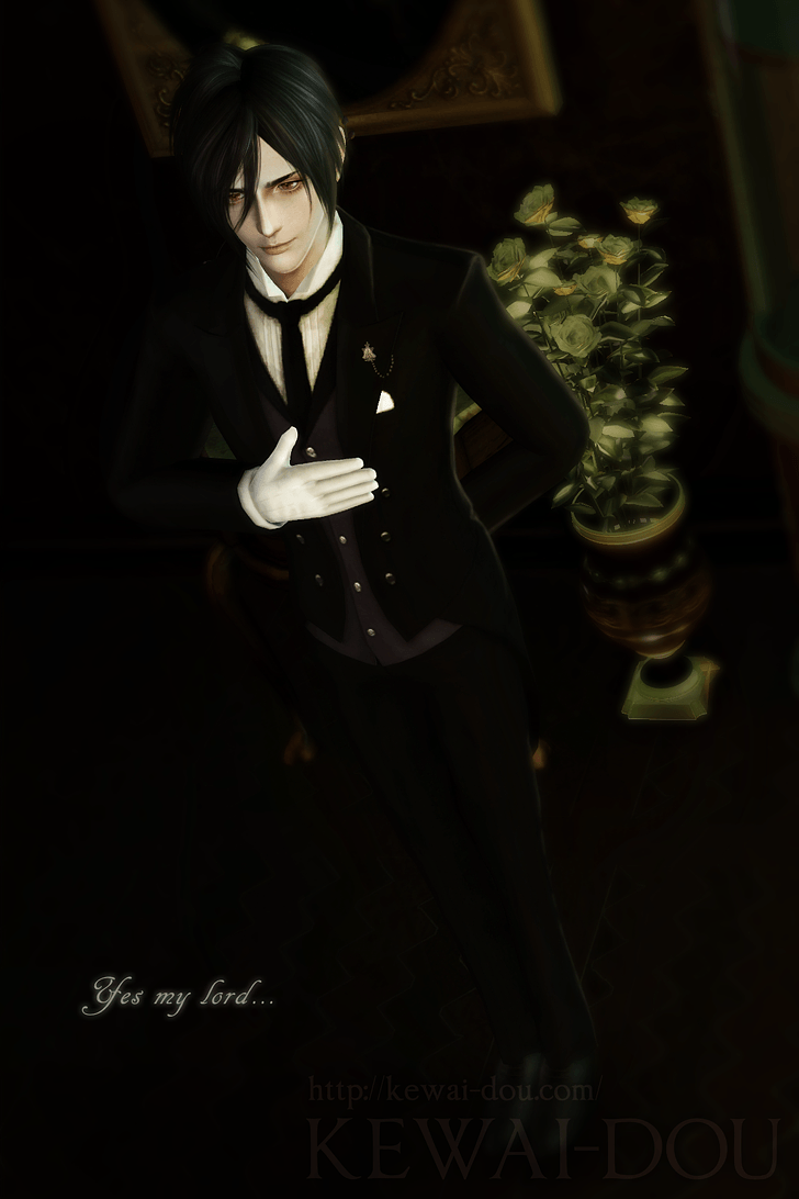 Sims 3 Anime Finds: Sebastian's Hair and Suit by Gen-So-Ron